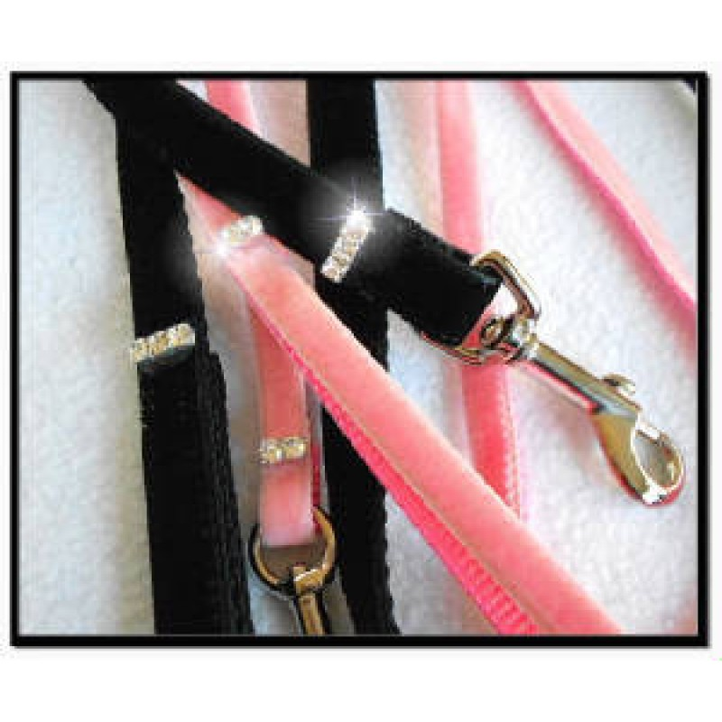 Velvet Rhinestone Leash